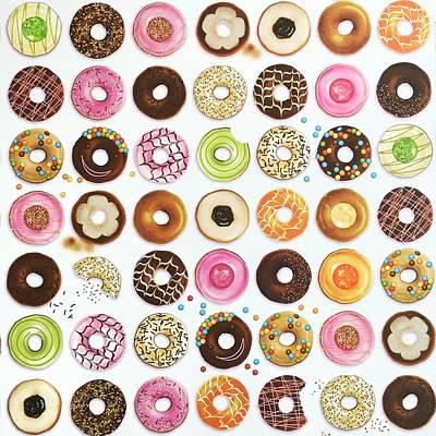 Donut Print by Ann Foo