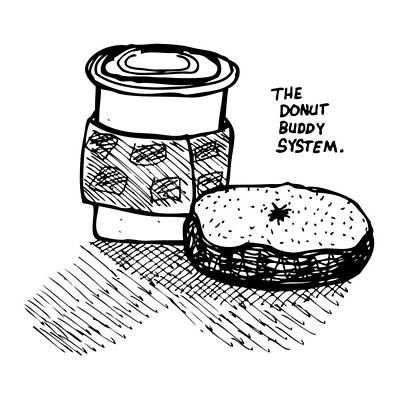 Snack Drawing - Donut Buddy System by Karl Addison