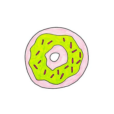 Donuts Painting - Donut by Cortney Herron