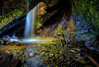 Photograph - Donut Falls by Dave Koch