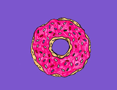 Donuts Drawing - Donut by Hope McDonald