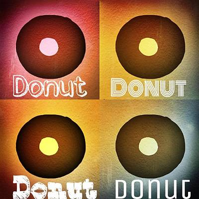 Donuts Mixed Media - Donut by Shanhan Truitt-Roos