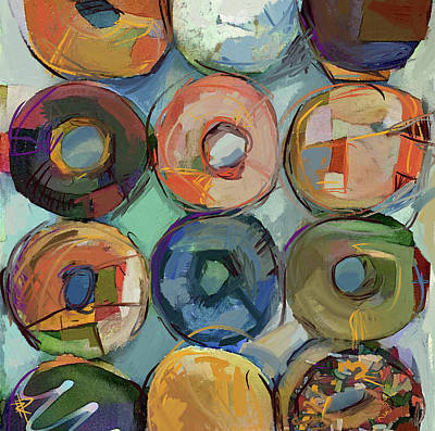 Mixed Media - Donuts Galore by Russell Pierce