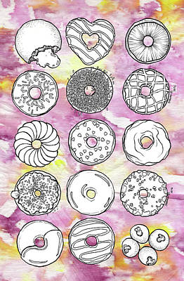 Donuts Or Doughnuts? Art Print by Dthe Vyda Crystal
