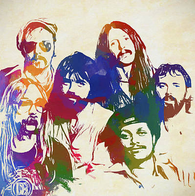 Painting - Doobie Brothers by Dan Sproul
