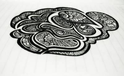 Hand Crafted Drawing - Doodle Artist by Sukanya Balakrishnan