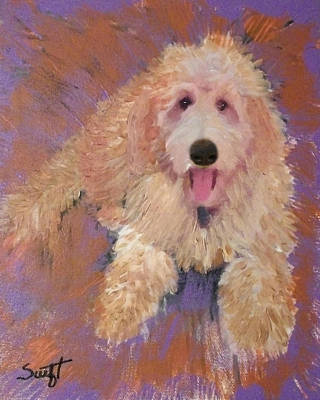 Labradoodle Painting - Doodle by Char Swift