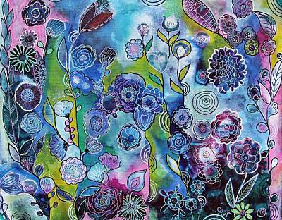 Wall Art - Painting - Doodle Flowers by Carol Iyer