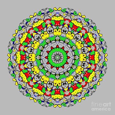 Surrealism Digital Art - Doodle Mandala 2 by Marv Vandehey