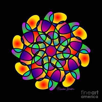 Digital Art - Doodle Mandala by Heather Schaefer