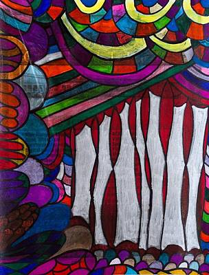 Painting - Doodle Page 6 - Bones And Curtains - Ink Abstract by Marie Jamieson