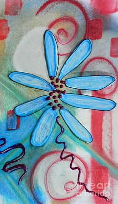 Mixed Media - Doodled Daisy by L Cecka