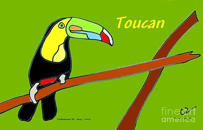 Photograph - Doodleiciousness - Toucan by Christine S Zipps