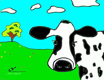 Photograph - Doodleiciousness Cow - Limited Edition by Christine S Zipps