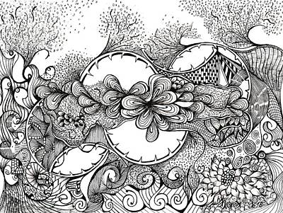 Abstract Movement Drawing - Doodlelicious by Ronda Breen