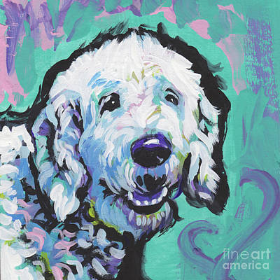 Golden Doodle Painting - Doodly Doo I Love You by Lea