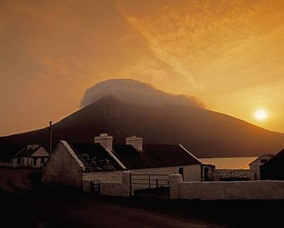 Connaught Photograph - Doogort And Slievemore, Achill Island by The Irish Image Collection