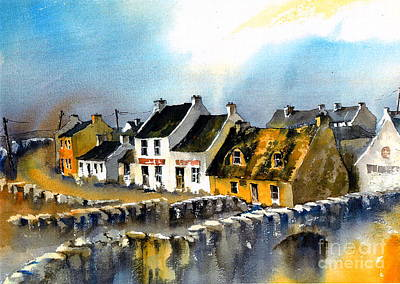 Painting - Doolin As It Was. by Val Byrne