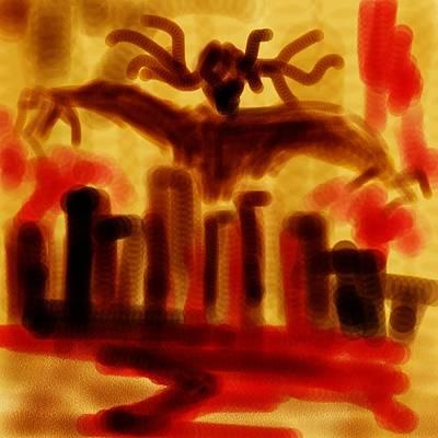 Digital Art - Doom City by Angel Wing