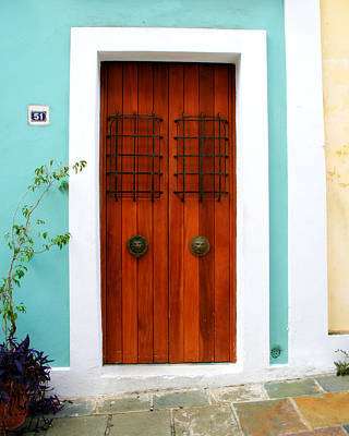 Puerto Rico Photograph - Door 51 by Perry Webster
