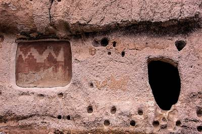 Photograph - Door And Painting In Volcanic Tuff by NaturesPix