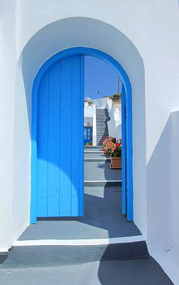 Photograph - Door And Stairs, Santorini, Greece by Elenarts - Elena Duvernay photo