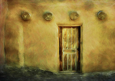 Photograph - Door And Vigas by Nikolyn McDonald