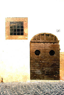 Painting - Door And Window by Giuseppe Cocco