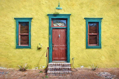 Photograph - Door And Windows - Barrio Historico - Tucson by Nikolyn McDonald