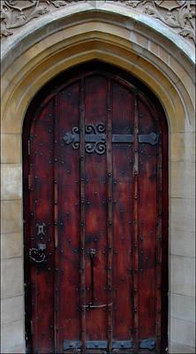 Photograph - Door At Bath Abbey by Tony Grider