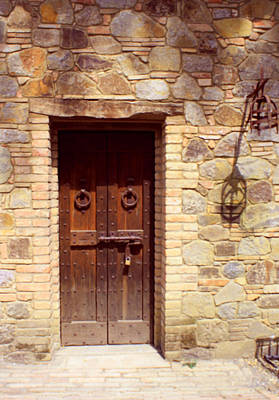 Sattui Photograph - Door At Castello Di  Amorosa by Gail Salituri