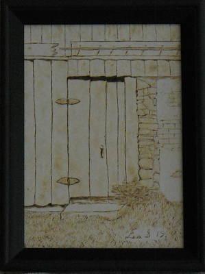Door At Historic Waterford Village In Va Original by H Leslie Simmons