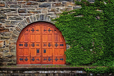 Photograph - Door At Old Winery by Carolyn Derstine