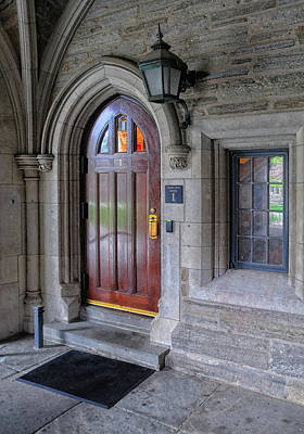 Photograph - Door At Princeton University by Dave Mills