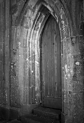 Colored Pencils - Door at Protestant Church Macroom Ireland by Teresa Mucha