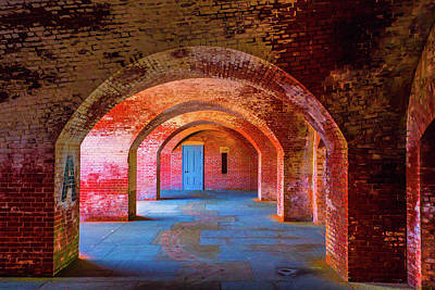 Colorful Buildings Photograph - Door At The End Of The Archway by Garry Gay