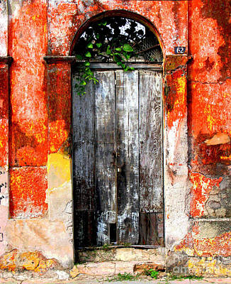 Image Gypsies Photograph - Door At The Red Corner By Darian Day by Mexicolors Art Photography