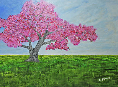 Painting - Door County Cherry Tree by Jack G Brauer