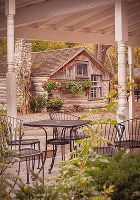 Print featuring the photograph Door County Thorp Cottage by Heidi Hermes