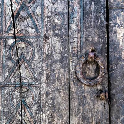 Photograph - Door Detail Santa Fe by Carol Leigh