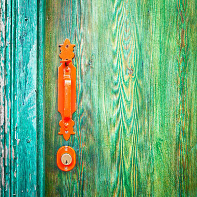 Entrance Door Photograph - Door Handle by Tom Gowanlock