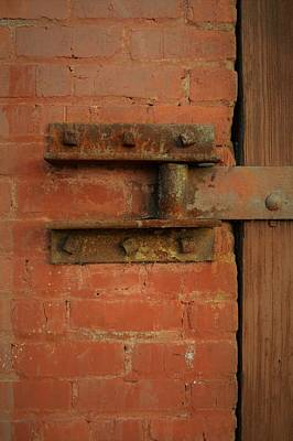 Photograph - Door Hinge 2 by Cheryl Hoyle