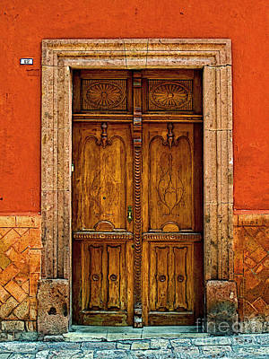 Door In Terracotta Art Print by Mexicolors Art Photography