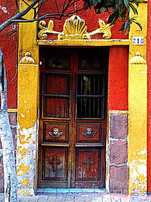 Tlaquepaque Photograph - Door In The House Of Icons by Mexicolors Art Photography