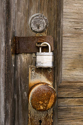 Photograph - Door Knob And Lock by Joseph C Hinson Photography