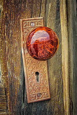 Photograph - Door Knob To The Past by LeeAnn McLaneGoetz McLaneGoetzStudioLLCcom