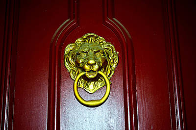 Photograph - Door Knocker by Charles Bacon Jr