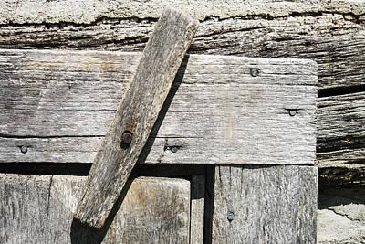 Log Cabin Art Photograph - Door Latch On Log Building by Donald  Erickson