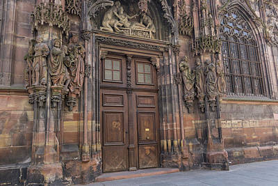 Photograph - Door Of St Lawrence Our Lady Of Strasbourg by Teresa Mucha