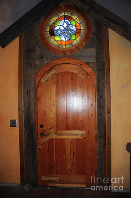 Photograph - Door Of The Chapel by Cindy Murphy - NightVisions
